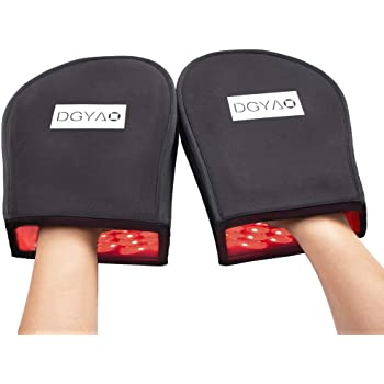 DGXINJUN Red Light Therapy Device Near Infrared LED Hand Pain Relief Mitten (2 Hands )