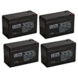 Universal Power Group UPS Battery for APC BE500R Lead-Acid Battery Replacement 12V 7Ah - 4 Pack