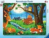 Ravensburger Puzzle Ravensburger 05146 - Puzzle Infantil (35 Piezas), diseño de Animales pequeños, Color Azul y Turquesa