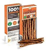 J R Pet Products 3 x 50g Pure Dried 100% Fresh Meat Sticks Dog Treat Gluten & Grain Free - CHICKEN
