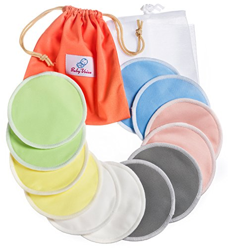 Find Cheap Reusable Washable Nursing Pads 12 Pack | Organic Bamboo | Laundry & Travel Bag | Softest ...