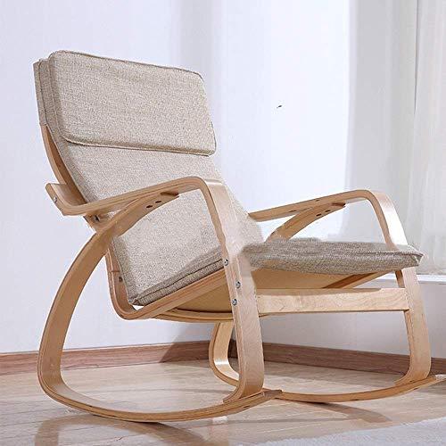 NBVCX Hausrenovierung Bequemer Lounge Chair Erwachsener Happy Schaukelstuhl Ältere Outdoor Freizeit Schaukelstuhl Stillen Schaukelstuhl Relax Schaukelstuhl (Farbe: Foto Farbe Größe: M)