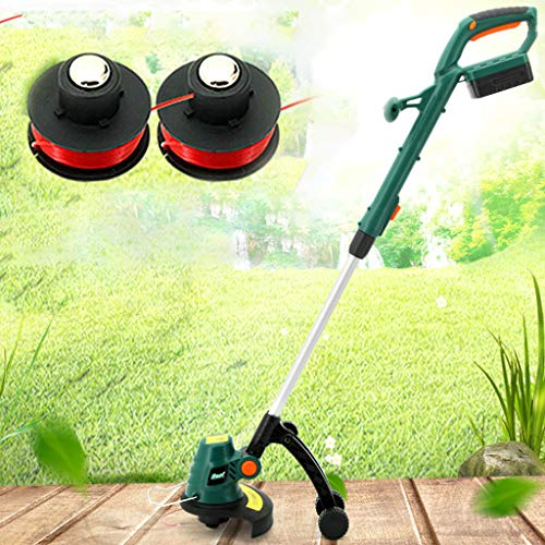 Learn More About Electric Grass Trimmer Edger Lawn Mower 18V 2000mAh with Roller Cordless Grass Brus...