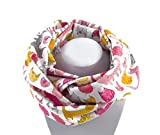 Kinder-Loop Schlauchschal Katzen rosa-gelb auf weiß - 100% Baumwolle - bettina bruder®