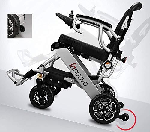 KFDQ - Silla de rehabilitación médica, silla de ruedas, silla de ruedas eléctrica portátil, silla de viaje de avión, movilidad motorizada, ruedas eléctricas compactas