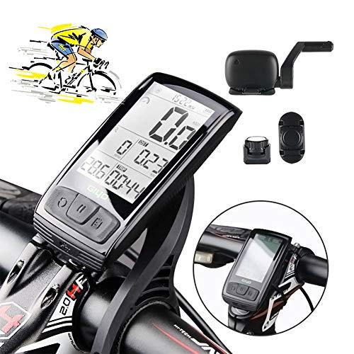 XIYAN Bicicleta Velocímetro, 11 función Impermeable del USB Gran Ciclo Pantalla LCD de Carga Sensor de cadencia exacta conexión Bluetooth, Utilizado para Montar a Caballo de Medición de Velocidad