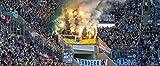 Blue-Letter München blau Fans Pyro - hochwertiger