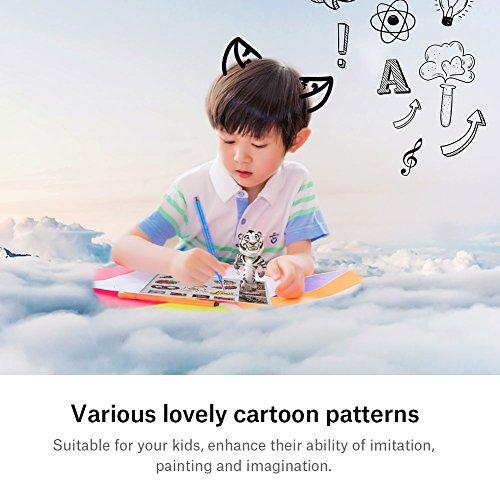 20 Stücke 3D Drucker Zeichnung Papier, Zeichnung Vorlage Papier Formen für 3D Druck Stift mit 40 Cartoon Muster Kinder DIY Geschenk - 3