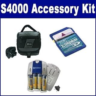 Fujifilm Finepix S4000 Digital Camera Accessory Kit includes: KSD2GB Memory Card, SDC-27 Case, SB257 Charger