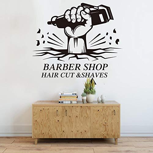 Tianpengyuanshuai Friseur Schönheitshaarschnitt Rasieren Wandtattoo Haarschnitt Friseur Friseur Friseur Friseur 67X55cm