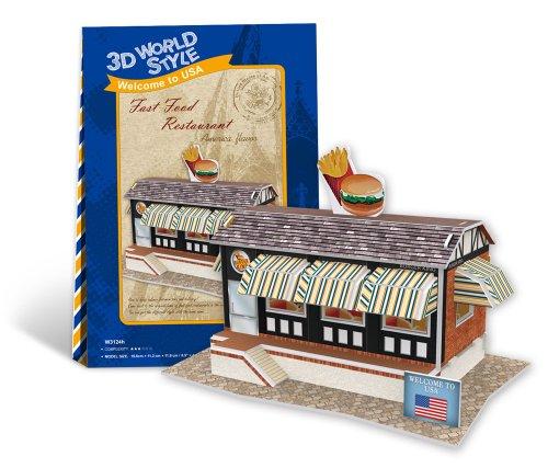 3D puzzle en trois dimensions World Series style 3D Fast-food W3124h (Japon import / Le paquet et le manuel sont ?crites en japonais)