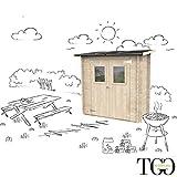 Casetta in legno Addossato Jack Per Attrezzi per Barbecue con porta doppia finestrata 198 ...