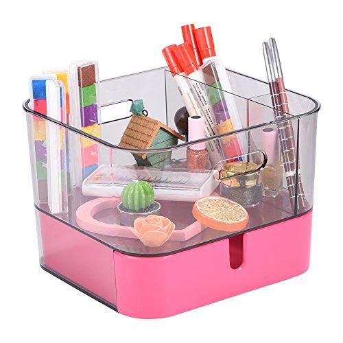 Acrylic Makeup Cosmetic Jewelry Display Storage Organizer Holder Box with Drawer (#1)