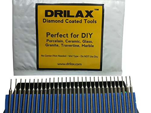 60 Pack Diamond Drill Bit 1mm//2mm//3mm Jewelry Beach Sea Glass Shells Gemstones Lapidary 20 pcs 1mm//2mm//3mm.