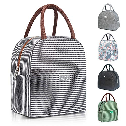 Reusable Insulated Lunch Bags for Women Lunch Box for Kids Tote Bag Lunch Box Insulated Womens Lunch Bag Leakproof Freezable Cooler Bag Lunch Container Meal Prep Lunch Box