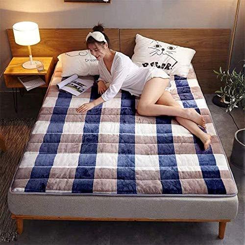 Mnjin Bedroom Mattresses Mattress Bases Winter Foldable Tatami Mattress,Home Thick Warm Flannel Mattress,100x200cm