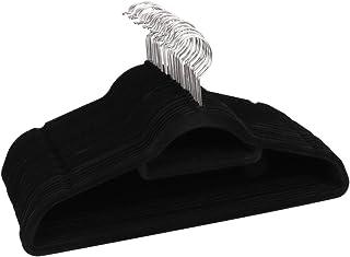 "Made for UAE 17""Non-Slip Clothes Black Velvet Hangers(Pack of 30) Ultra Thin Space Saving 360 Degree Swivel Hook Strong an..."