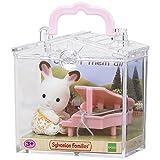 Sylvanian Families - 5202 - Beb Para Llevar ( Conejo Chocolate con Piano)