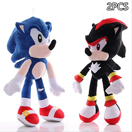 n\a Sonic-Shadow-Silver Sonic Plush Toy Amy Rose The Hedgehog Tails Knuckles The Echidna Soft Peluches Muñeca Regalos para Niños 28cm 2-2