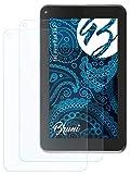 Bruni Schutzfolie kompatibel mit Xoro Pad 7A2 Folie, glasklare Bildschirmschutzfolie (2X)