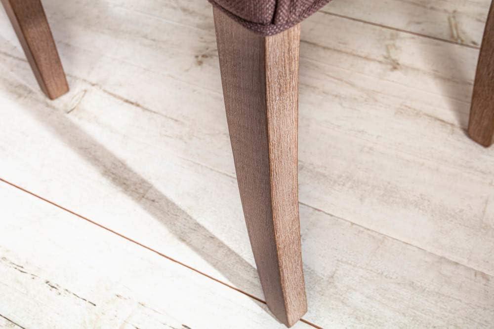 Invicta Interior Eleganter Armlehnen Stuhl Castle beige mit Chesterfield Steppung im Landhausstil Esszimmerstuhl Armlehnstuhl Braun / mit Armlehnen