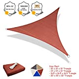 SUNLAX Sun Shade Sail, 16.5'x16.5'X16.5' Red Triangle Outdoor Awning Shade Cover 185GSM HDPE UV Block for Patio Shading