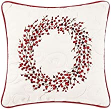C & F Enterprises Berry Wreath Holiday Throw Pillow