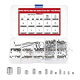 FEPITO 240 Pcs Cup Point Grub Screw Hex Head Allen Screw Set M3 M4 M5 M6 M8 with Small Allen Key Wrench M1.5 M2 M2.5 M3 M4 Stainless Steel Assortment Fasteners Kits