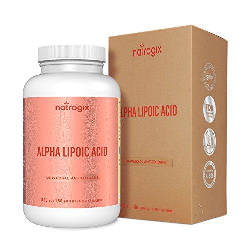 Alpha Lipoic Acid 300mg - 180 Softgels - Fast Absorption Liquid Softgels - Powerful Antioxidant Support Formula