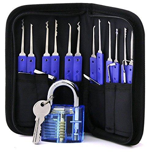 loboo Master Pickset Tooling System met een hangslot (blauw) (1)