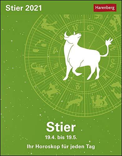 Stier Sternzeichenkalender 2021 - Tagesabreißkalender mit ausführlichem Tageshoroskop und Zitaten - Tischkalender zum Aufstellen oder Aufhängen - Format 11 x 14 cm: Ihr Horoskop für jeden Tag