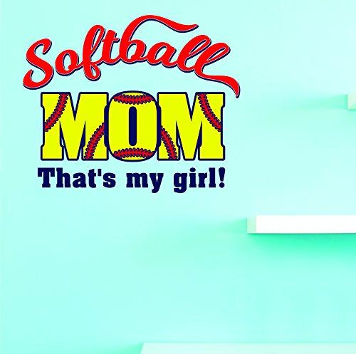 Motif Vinyle Avec 1 Recharges de 2306 1 Hot nouveaux autocollants Softball Mom. qui est Mon Fille Art mural Taille X 30,5 cm Couleur, 30,5 x 30,5 cm, Multi