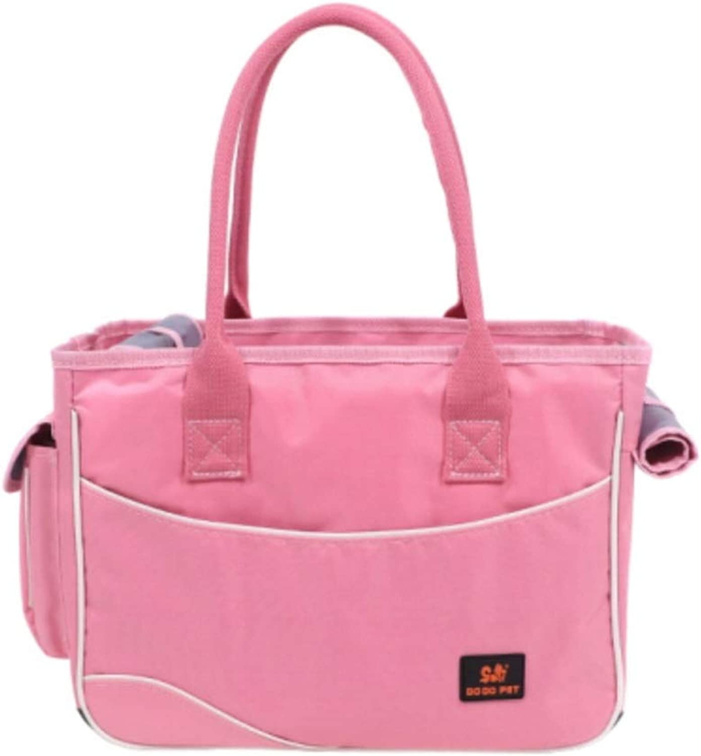 2019 Newly DesignedFashion Pet Dog Carrier Leather Dog Carriers Luxury Cat Travel Carrying Handbag Outdoor Travel Walking Hiking (color   Pink, Size   S)