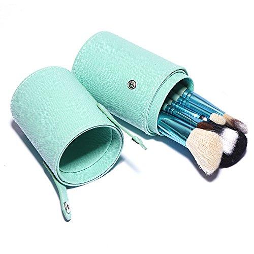 Pennelli Make Up USpicy Kit 12 pezzi Pennelli Cosmetici Trucco spazzola professionale. Brushs per Ombretto, Alta Qualità, Make Up Set con borsetta da viaggio, Regalo (pink)
