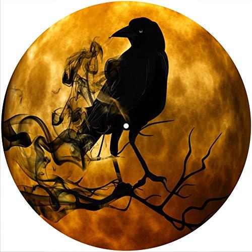 Slipmat Slipmat Kratzmatte Filz für jeden 30,5 cm LP DJ Vinyl Plattenspieler Custom Graphical – Moon Raven