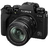 """Fujifilm X-T4 Fotocamera Digitale Mirrorless 26 MP con Obbiettivo XF18-55mmF2.8-4 R LM OIS, Sensore X-Trans CMOS 4, IBIS, Filmati 4K 60p, Mirino EVF, Schermo LCD 3"""" Touch Vari-Angle, Nero"""
