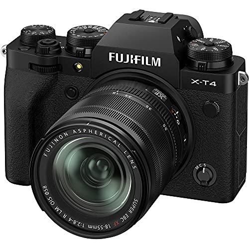 FUJIFILM X-T4 Systeemcamera (26,1 Megapixel, X-Trans CMOS 4 Sensor, 7,6 cm (3 inch) Touch-LCD) incl. XF18-55mmF2.8-4 R…