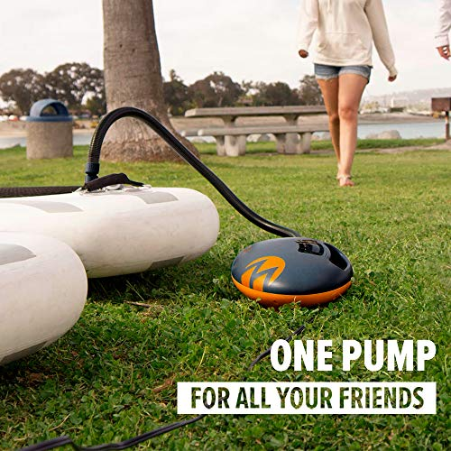Product Image 2: OutdoorMaster Shark High Pressure SUP Pump – Electric Air Pump with 20 PSI Active Cooling System Dual Stage Inflation & Auto-Off for Inflatable Paddle Board, Boats, Water Sports Inflatables -2nd Gen