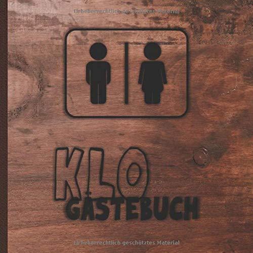 Klo Gästebuch: Auch für's WC, das stille Örtchen oder die Toilette geeignet / Witziges...