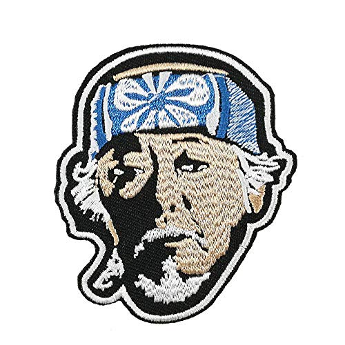 The Karate Kid Mr Miyagi Face Embroidered Iron on sew on Patch Applique