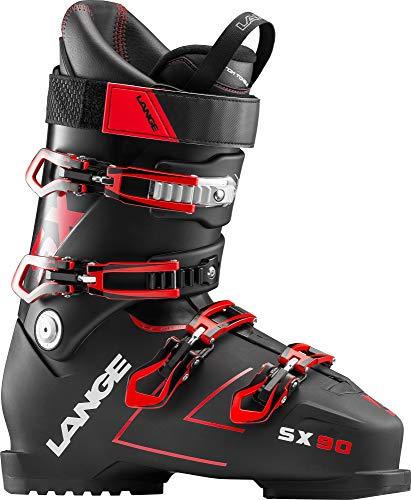 LANGE SX 90 Botas de Esquí, Hombre, Negro (True) / Rojo, 28