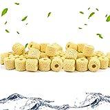 QCKJ Anillos de Cerámica para Acuario, filtros de Bio, Anillos de Cerámica Premium para Todos los Tipos de peceras y estanques, 1000 g