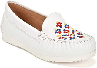 Five Tribe Women's Creative Leather Moccasin Loafer