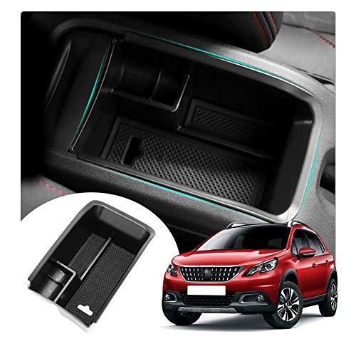 YEE PIN Peugeo t 2008 SUV 2014-2020 Mittelkonsole Handschuhfach für Armlehne Organizer Aufbewahrungsbox Mit Rutschfestermatte Autozubehör