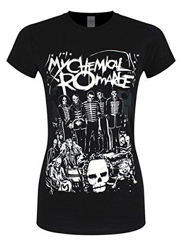 My Chemical Romance T-Shirt Dead Parade da Donna in Nero