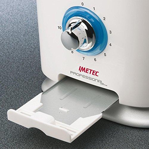 Imetec Professional Serie TS 600 Tostapane, 2 Fessure Extralarge e Pinze Apribili per Toast Extrafarciti, 10 livelli di doratura, Timer con Autospegnimento, Cassetto Raccogli-briciole, 600 W