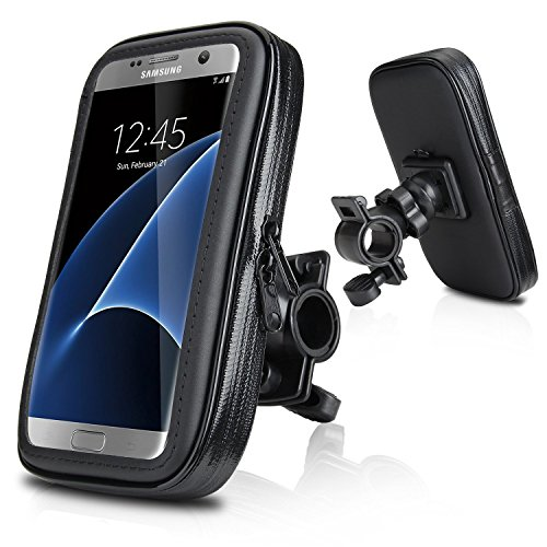 "Soporte Funda Bolsa Para Bicicleta, Wotek 5,2'--5,8' Universale Motocicleta Bici Bicicleta Manillar Prueba de Agua Caja Bolsa Monte Soporte Para iPhone 6s /6 Plus, Samsung Galaxy S7 /S6 EDGE, Samsung Galaxy S8 S7 S6 S5, HUAWEI P9 P8, LG G5 G4 (5.2'-5.8"")"