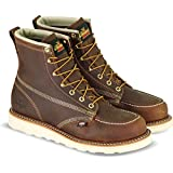 """Thorogood Men's 814-4203 American Heritage 6"""" Moc Toe, MAXwear Wedge Non-Safety Toe Boot, Trail Crazyhorse - 8.5 D US"""