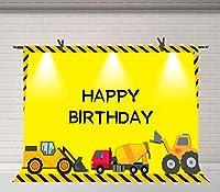 HD建設テーマ背景建設現場機器クレーンブルドーザー写真背景少年誕生日バナー写真スタジオ小道具7X5ft BJQQFU209