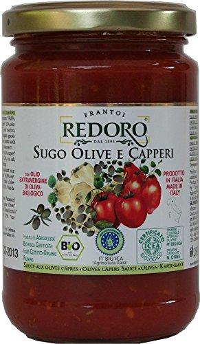 Bio Tomatensoße mit Oliven und Kapern 290 g - sugo olive e capperi, bio